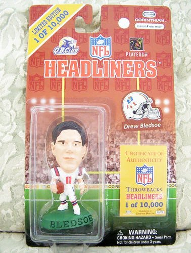 Drew Bledsoe NFL Headliners Action Figure - Limited Edition - 1 of 10,000