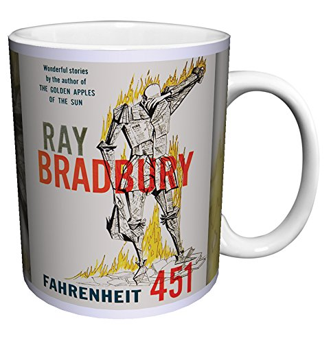 Penguin Book Cover Coffee Mugs : Ray bradbury fahrenheit classic literature literary