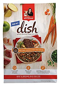 Rachael Ray Nutrish DISH Natural Dry Dog Food, Beef and Brown Rice Recipe with Veggies, Fruit and Chicken, 11.5 Pound