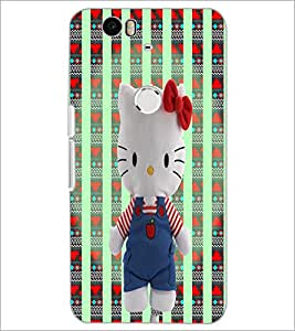 PrintDhaba Hello Kitty D-5780 Back Case Cover for HUAWEI NEXUS 6P (Multi-Coloured)
