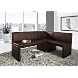 eckbank braun kaufen gebraucht und g nstig. Black Bedroom Furniture Sets. Home Design Ideas