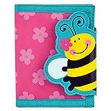 ステファンジョセフ 女の子用ピンク花柄ミツバチのお財布,水玉,ストライプ小銭入れ小物入れ,ベビー用ポーチ,さいふ,子供用財布 [並行輸入品]