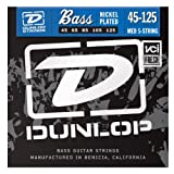 Dunlop DBN45125 Nickel Wound Bass Strings, Medium, .045-.125, 5 Strings/Set