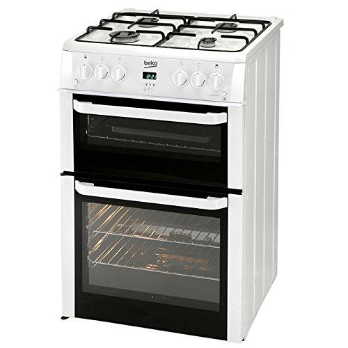 Beko BDVG694WP Double Oven 60cm Gas Cooker - White