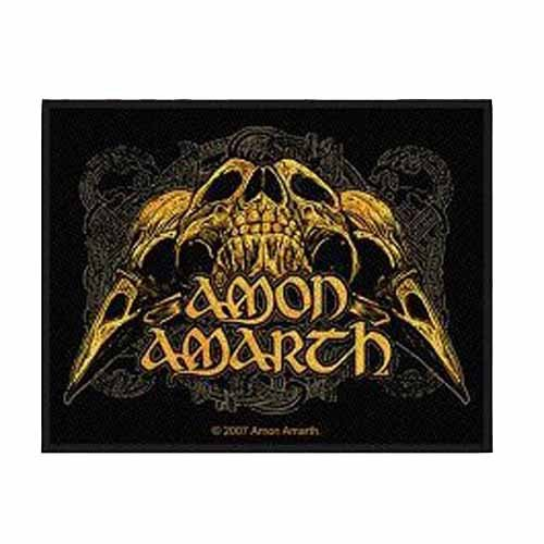 Amon Amarth - Patch Raven Skull (in 9 cm x 9 cm)