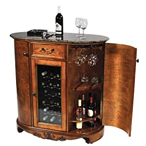 wine cooler wine bar cabinet granite top home