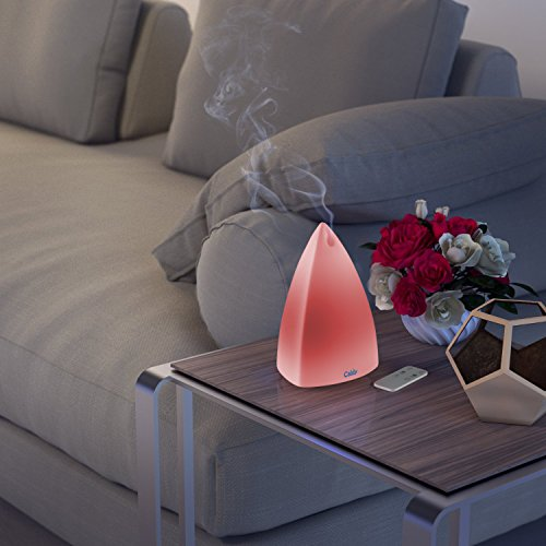 Calily Ultrasonic Essential Oil Diffuser Aromatherapy with Remote Control, Relaxing & Soothing Multi-Color LED Light