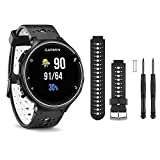Garmin Forerunner 230 GPS Running Watch, Black/White - Black/White Watch Band Bundle