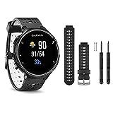Garmin Forerunner 230 GPS Running Watch, Black/White - Black/White Watch Band Bundle
