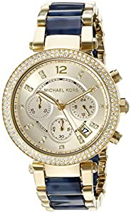 amazoncom michael kors womens mk6238 parker blue watch