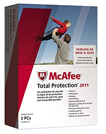 McAfee total protection 2011 (3 postes, 1 an) - mise à jour