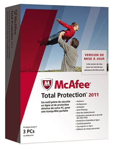MCAFEE TOTAL PROTECTION 2011 - 3 POSTES - MISE À JOUR