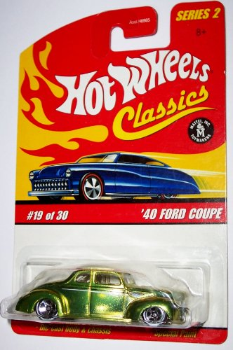 Hot Wheels Classics Series 2 #19 of 30 '40 Ford Coupe Die Cast Body and Chassis Special Paint (Anti-Freeze Yellow or Light Green) (Antifreeze For Mustang compare prices)