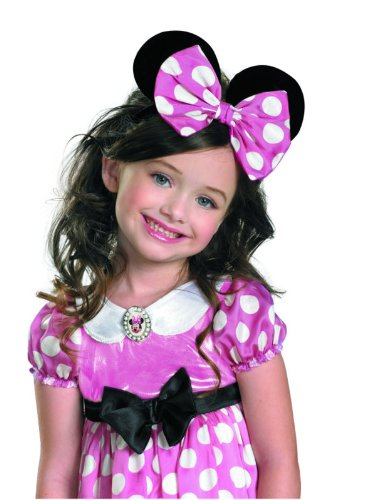 Minnie Mouse Clubhouse Glow Bow, Pink/Black