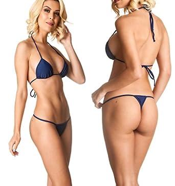 b9464f9d20e COQUETA Brazilian Teeny Micro Thong Mini Bikini Swimsuit G String Sexy