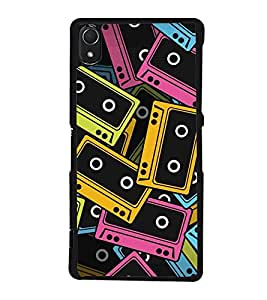 Audio Cassettes Tapes Back Case Cover for SONY XPERIA Z3