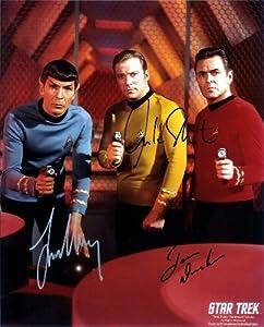 Star Trek Cast Signed Autographed 8 X 10 RP Photo - Spock - Kirk - Doohan - Mint Condition