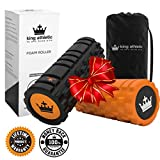 Holiday Deals:: Foam Roller for Muscle Exercise and Myofascial Massage :: Physical Therapy, Grid Textured Fitness Rollers Best For Stretching, Tension Release, CrossFit, Pilates & Yoga