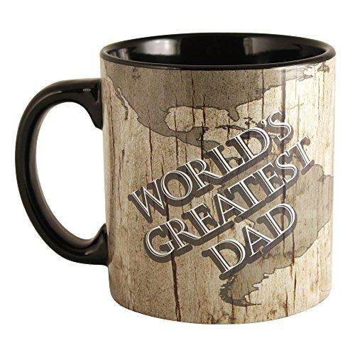 Mancave World'S Greatest Dad Oversized Ceramic Mug, 22-Ounce
