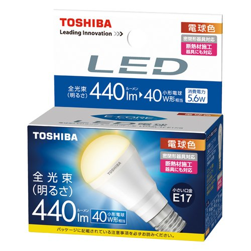 Toshiba E-Core 5.6W Mini Krypton Bulb Form (E-Core) Led Lda6L-H (Lamp Color 440 Lumen 40W) (Japan Import)