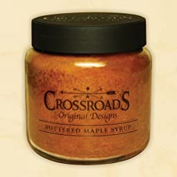 Scented Jar Candle - Buttered Maple Syrup - 16 Oz - The Smell Is Incredible! 80 to 100 Hours of Burn Time - Two Lead Free Wicks