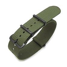 buy 18Mm Forest Green G10 Nato Watch Strap, Watchband, Pvd Black Hardware