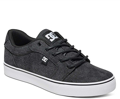 DC Men's Anvil TX LE Skate Shoe, Washed Out Black, 9 M US