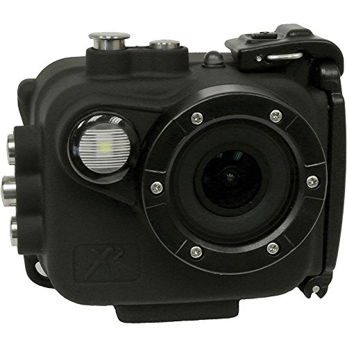 Intova X2 Waterproof 16MP Action Camera with Built-In 150-Lumen Light & Wifi