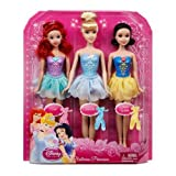 Disney Princess Ballerina Snow White, Cinderella and Ariel Dolls