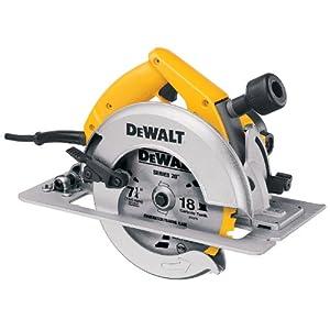 DEWALT DW364 7-1/4-Inch Circular Saw with Electric Brake and Rear Pivot Depth of Cut Adjustment by DEWALT