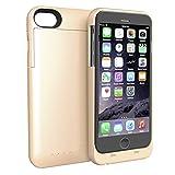 AVIDET iPhone 7 Plus ケース 充電器 バッテリーケース 4000mAh iPhone 6s Plus / iPhone 6 Plus 急速充電 モバイルバッテリー内蔵ケース (ゴールド)