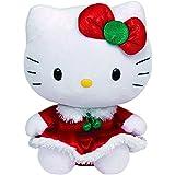 """Hello Kitty TY Hello Kitty Holiday Dress 6"""" Plush"""