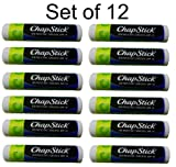 Chapstick Lip Moisturizer, Green Apple (Pack of 12)