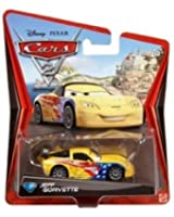 Disney Pixar Cars 2 - Jeff Gorvette - Voiture Miniature Echelle 1:55 - N°7 (W1948)