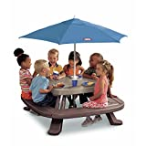 Endless Adventures Fold 'N Store Umbrella Picnic Table, Kids Picnic Table with Umbrella, Portable Picnic Table