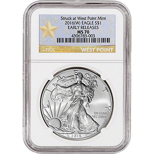 2016 (W) American Silver Eagle (1 oz) Early Releases WP Star Label $1 MS70 NGC