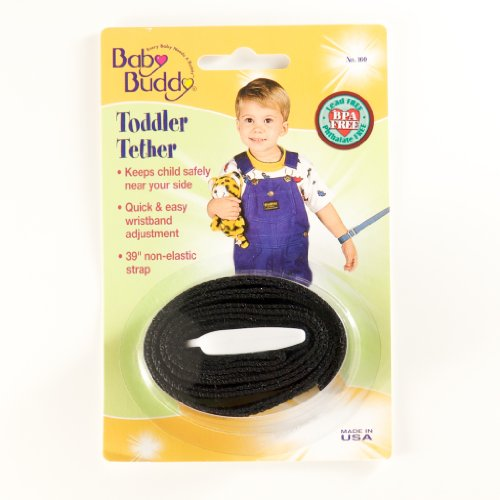Baby Buddy Toddler Tether, Black front-410234