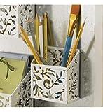Design Ideas Vinea Magnetic Pencil Bin, White