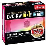 Imation 録画用DVD-RW CPRM対応 1-2倍速対応 インクジェットプリンタ対応(ホワイト・ワイドディスク) 11枚パック 5mmスリムケース DVDRW120PWAC11P