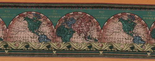 The World - Vintage Pre-pasted Wallpaper Border