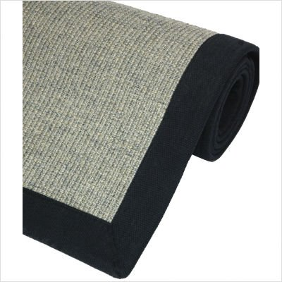 Sisal Rug in Charcoal Size: 5' x 8'