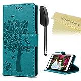 Sony Xperia Z5ケース MAVIS'S DIARY 手帳型ケース 横置き case 吸着の機能 スタンド PUレザーケース ブルー