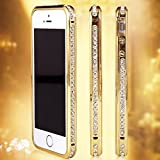 Product B00OZFUZLU - Product title Generic Luxury Diamond Crystal Rhinestone Bling Metal Frame Bumper Case Cover for Iphone 6 (4.7-inch) (Gold)