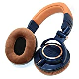 ATH-M50xBL-EARPADS - One Pair Brown earpads fits ATH-M20x,ATH-M30x,ATH-M40x,ATH-M50,ATH-M50s,ATH-M50RD,ATH-M50WH,ATH-M50x,ATH-M50xBL,ATH-M50xWH,ATH-M50xDG,ATH-M50xMG,ATH-MSR7NC,ATH-MSR7BK,ATH-MSR7BK (Color: Brown)