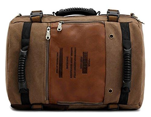 Shot-In Vintage Men'S Backpack Shoulder Bag Laptop Travel Camping Bag
