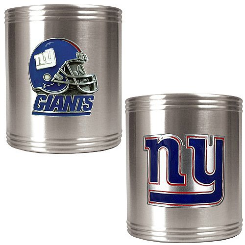 Great American Products NFL New York Giants Two Piece Stainless Steel Can Holder Set - Primary & Helmet Logo at Sears.com
