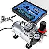 Timbertech Airbrush Set mit Kompressor, Double Action...