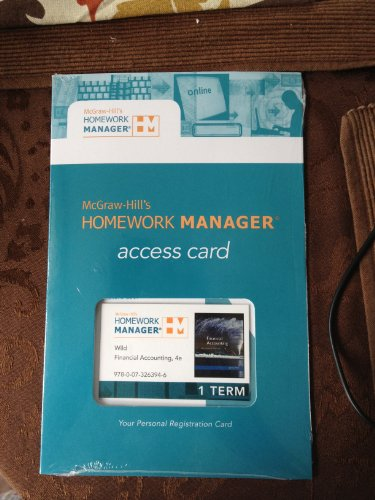 Homework manager plus access card