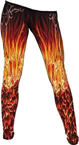 Spiral Furnace Flame Leggings multicolore L