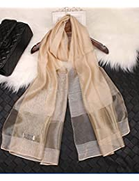 (エスエヌケー)SNK  冷房対策 シルク シフォンの華やかストール・ショール・スカーフ 薄手 羽織り